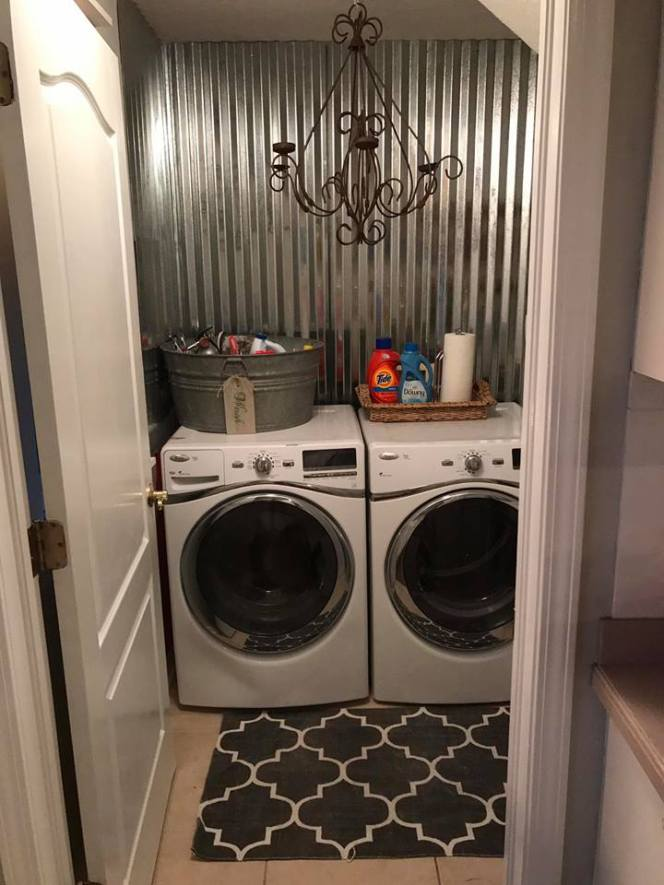 currogated metal laundry room